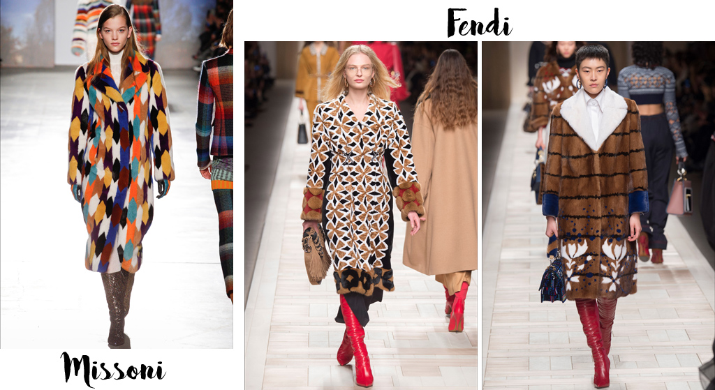 Tendenze moda autunno inverno 2017-18, pellicce colorate