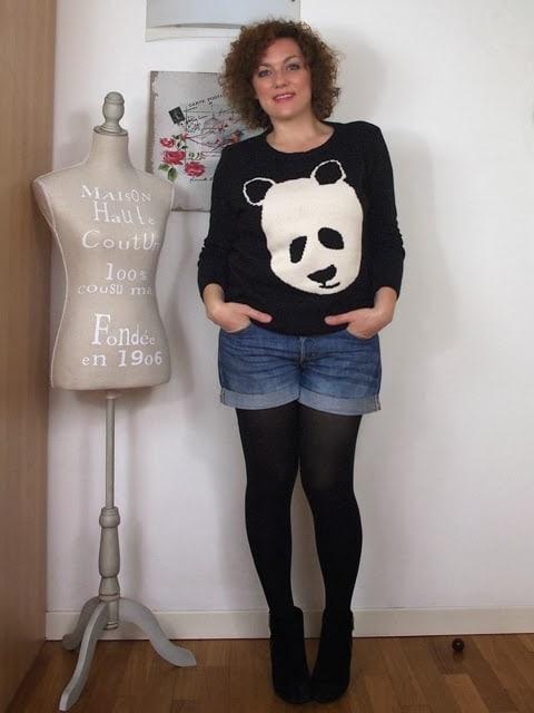 Outfit | Panda e shorts (con le calze Golden Curvy