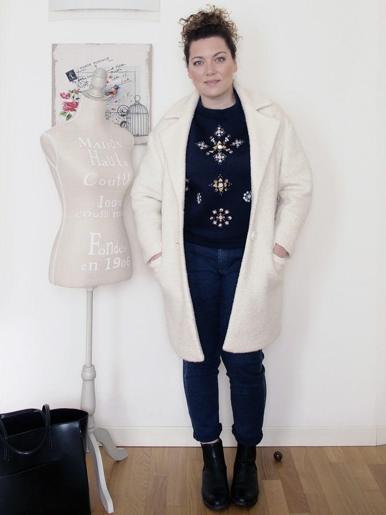 outfit-curvy-maglia-scuba-ricamata-H&M-cappotto-bianco-Pimkie-2