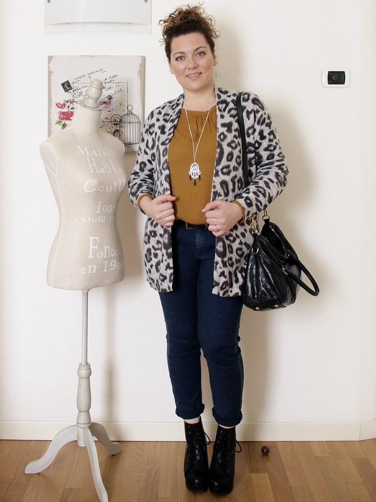 VerdementaBlog outfit curvy cardigan leopardato H&M-4