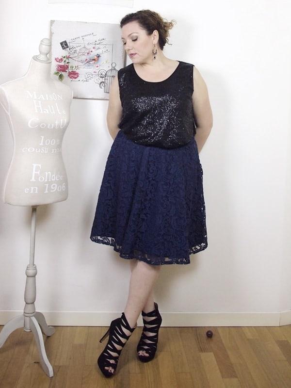 VerdementaBlog outfit curvy top paillettes Fiorella Rubino-gonna midi-tacchi alti-curvyblogger -12