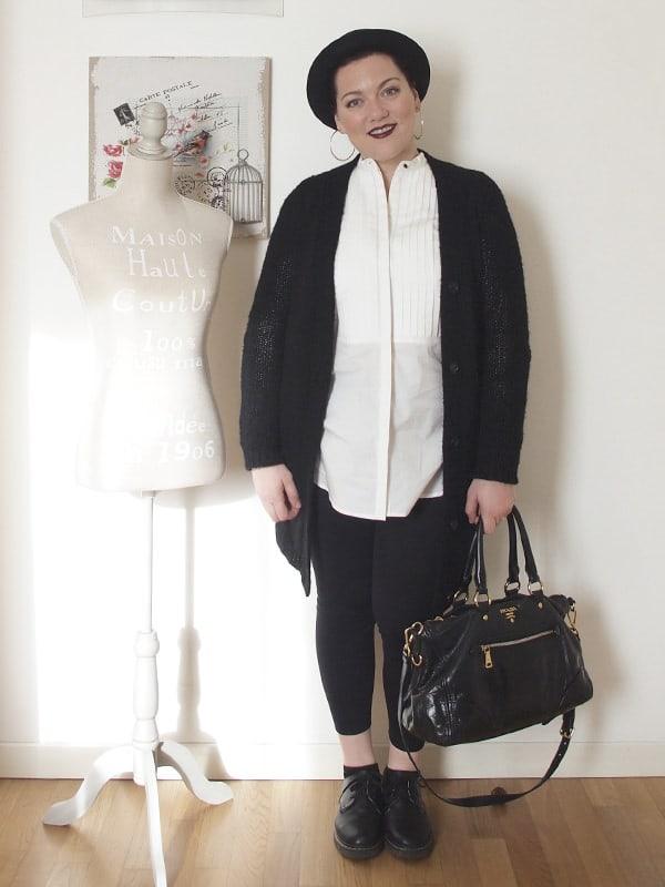 Outfit bianco e nero verdementa - Pagine a colori in bianco e nero ...
