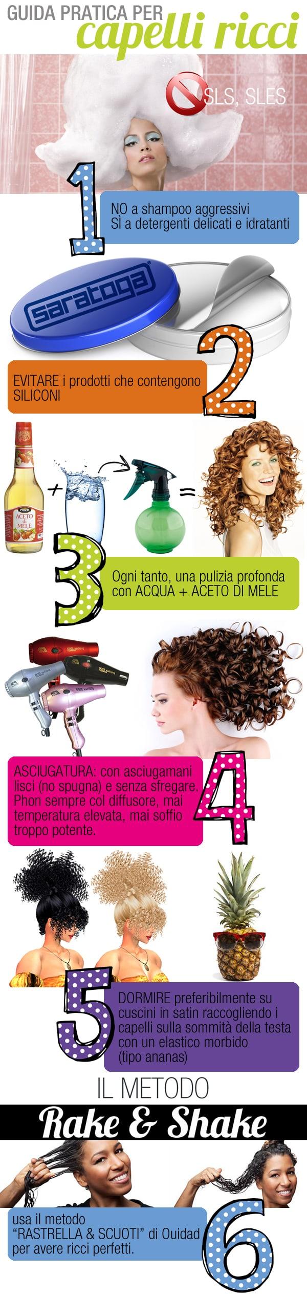 Styling per capelli ricci senza siliconi
