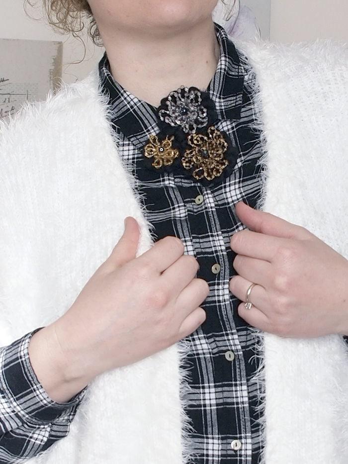 VerdementaBlog-outfit-curvy-bianco-e-nero-cardigan peloso-7