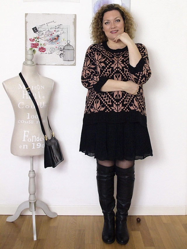 Verdementa_Blog-outfit-curvy-gonnellina-maglione-jacquard-2
