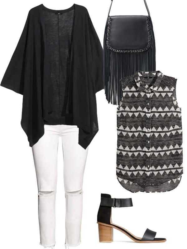 outfit-donna-mela-black&white-combo