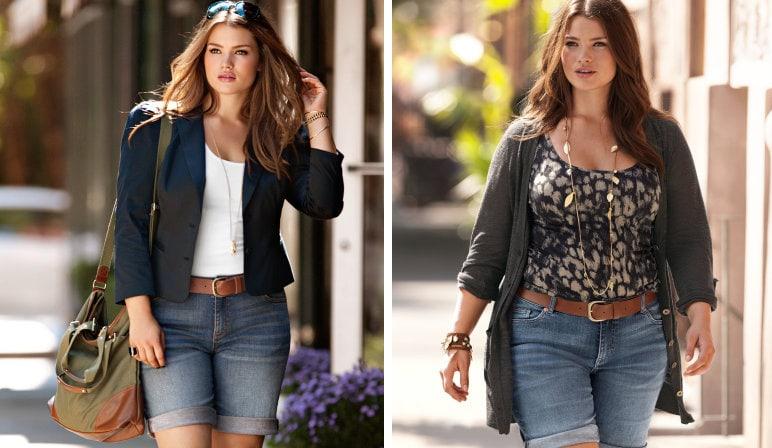 shorts per donne curvy: la modella plus size Tara Lynn