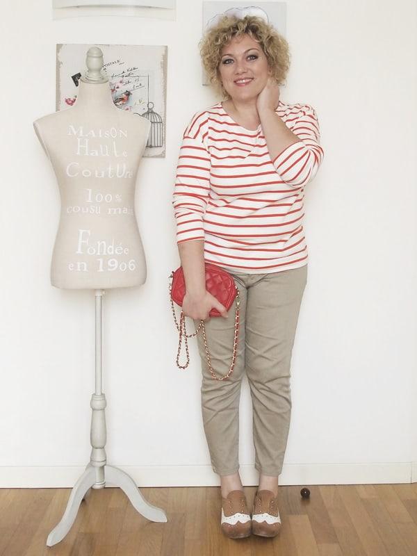 Verdementa-Fashion-blog-outfit-curvy-taglia48-casual-pantaloni-chinos-maglia-righe-7