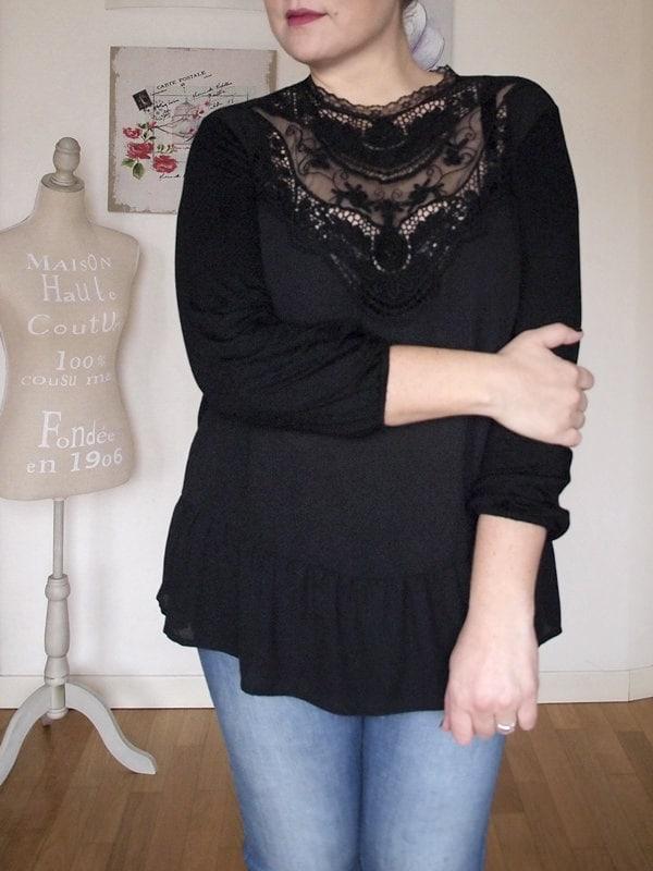 blusa vittoriana OVS curvyglam