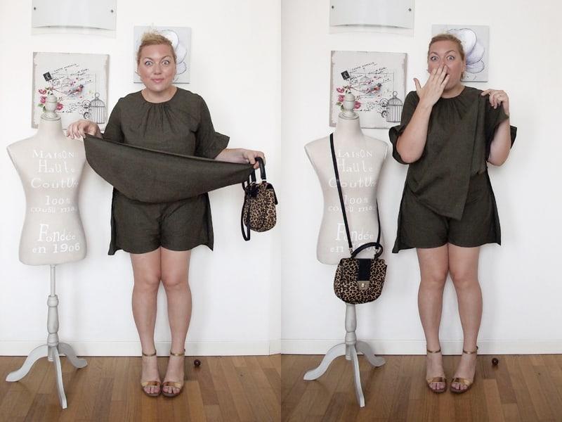 outfit curvy taglia L con abito-tutina corta