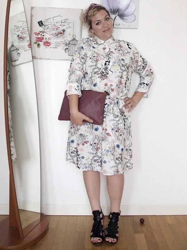 Verdementa Blog Curvy, outfit curvy taglia 46-48 con abito longuette a fiori