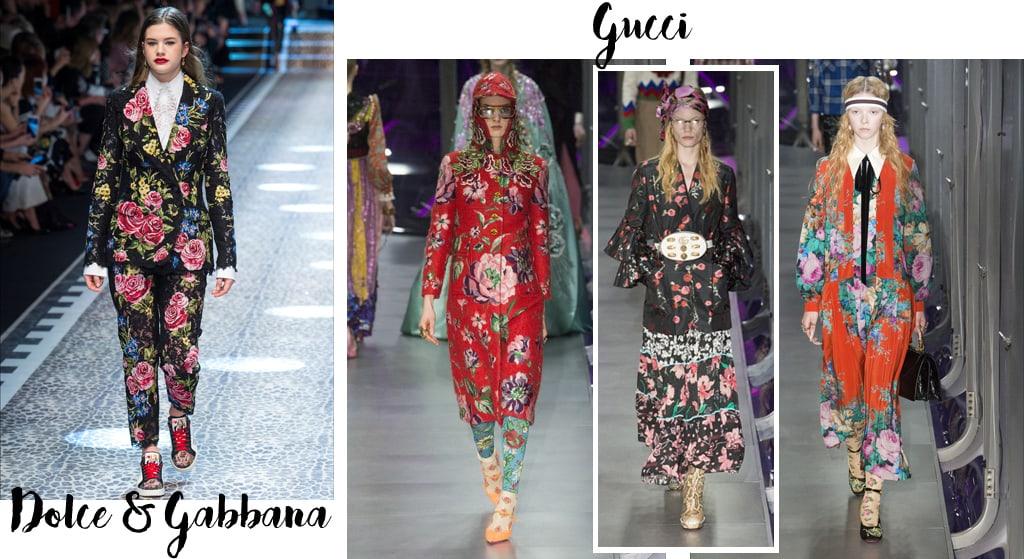 Tendenze moda autunno inverno 2017-18, fiori