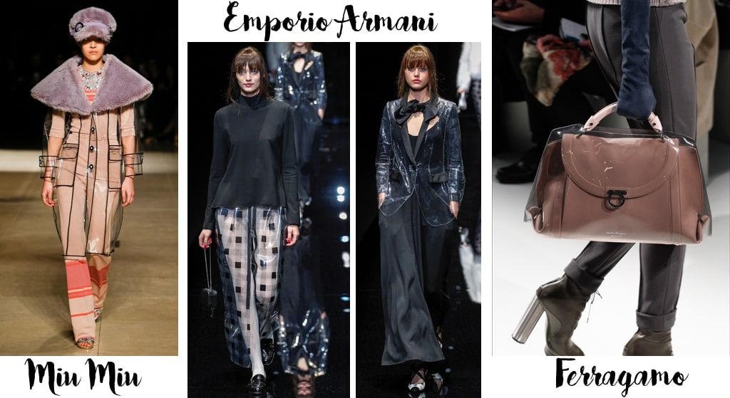 Tendenze moda autunno inverno 2017-18, pvc