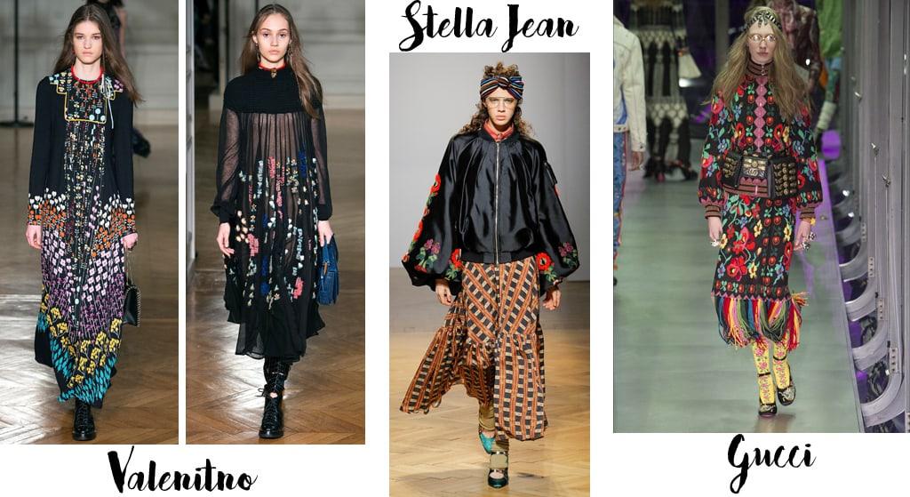 Tendenze moda autunno inverno 2017-18, folk
