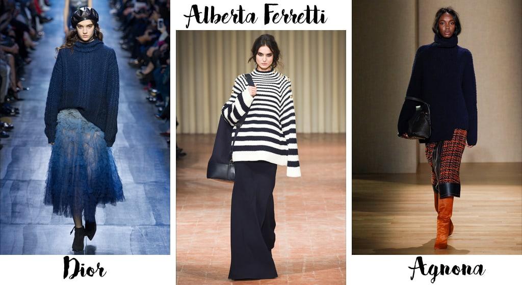Tendenze moda autunno inverno 2017-18, maglioni oversize