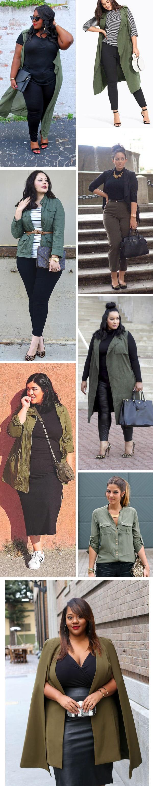 Look total black: come abbinare il nero con il verde militare