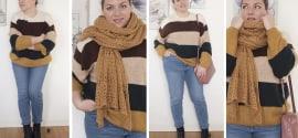 Casual friday: outfit curvy caldo e comodo con maglione oversize